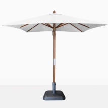 Dixon Market olefin square market umbrella in white
