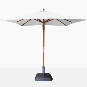 Dixon Market olefin square market umbrella in white