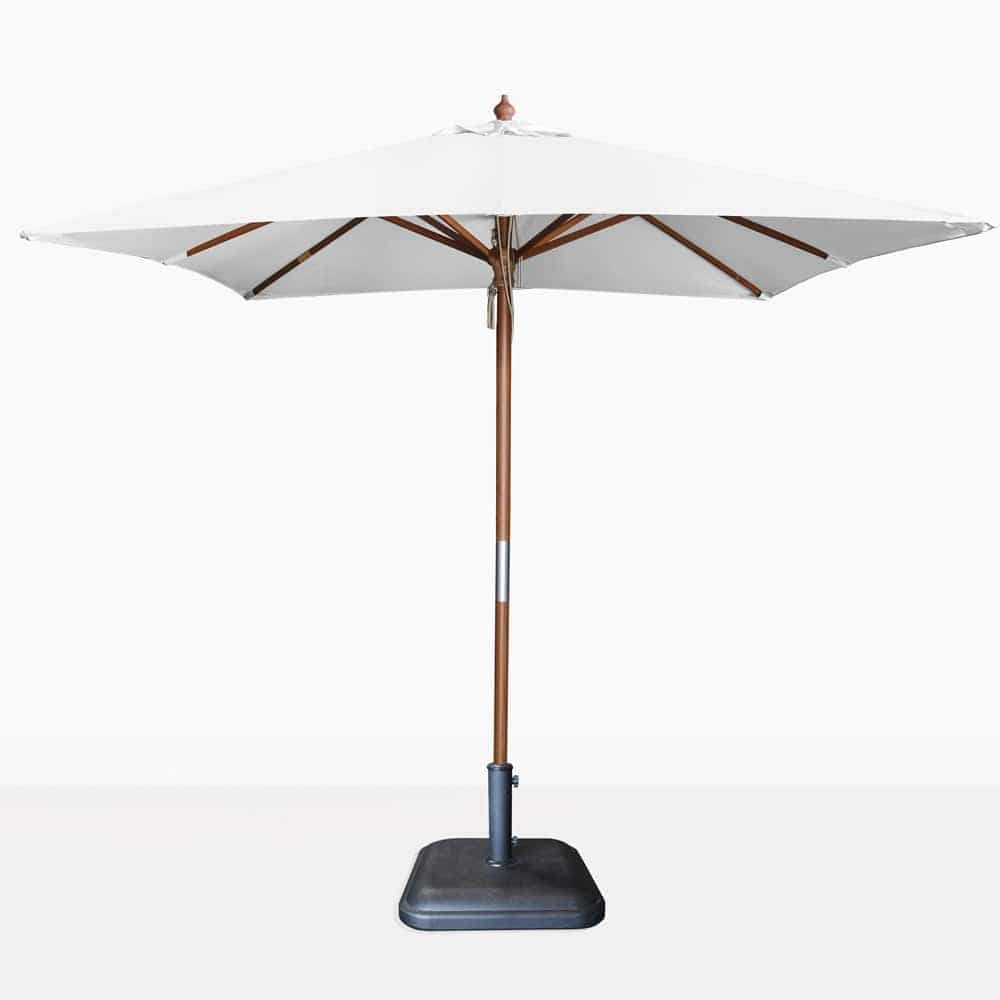 Dixon Market White Olefin Square Patio Umbrella 2 5m