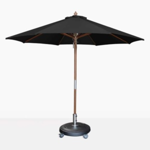 round Dixon sunbrella umbrella in black