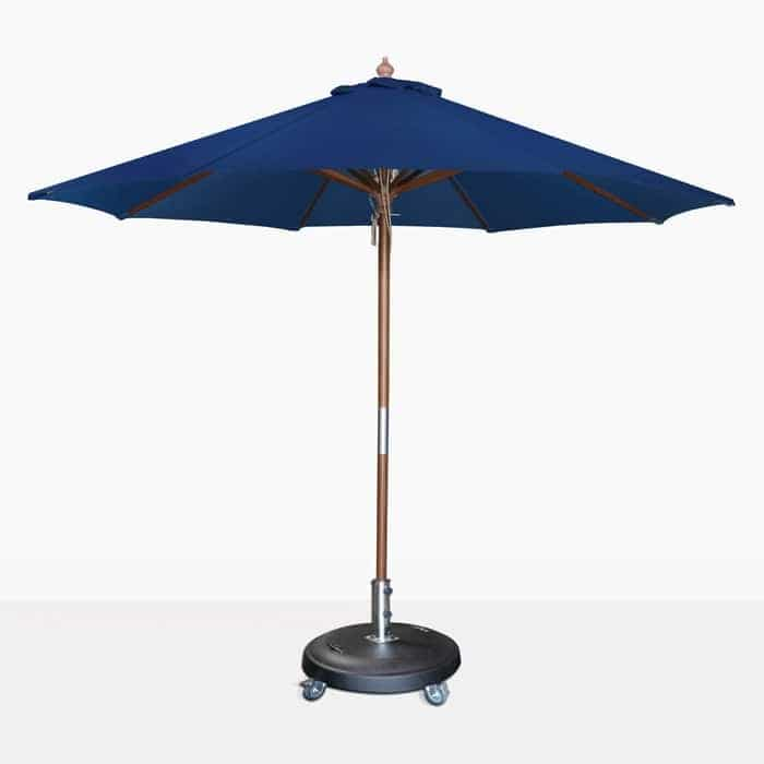 Dixon Market Olefin Round Dark Blue Patio Umbrella