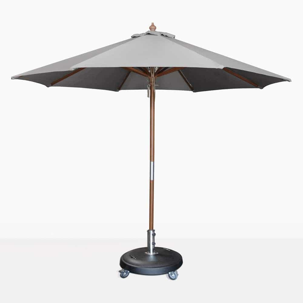 Dixon sunbrella round umbrella in graphite