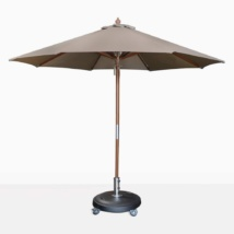 Dixon sunbrella round umbrella in taupe