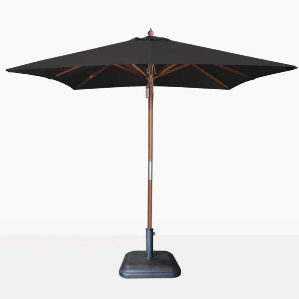 square sunbrella umbrella in black