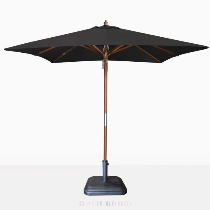 square sunbrella umbrella in black
