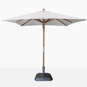 square sunbrella umbrella in canvas