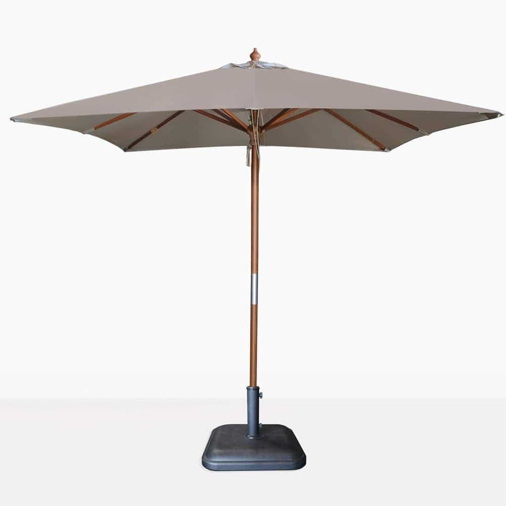 square sunbrella umbrella in taupe