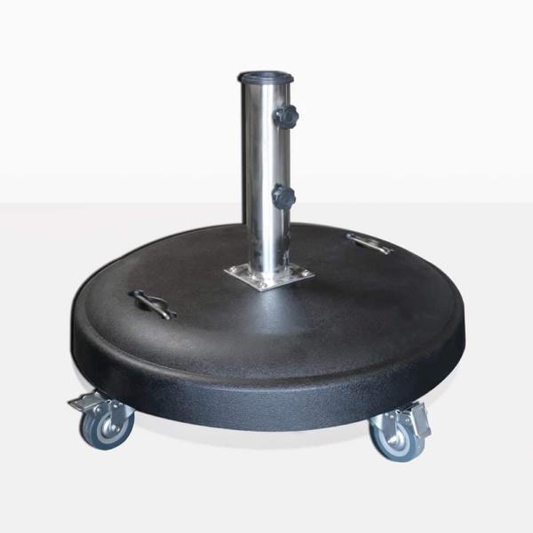 Mason Round Concrete Umbrella Stand with wheels