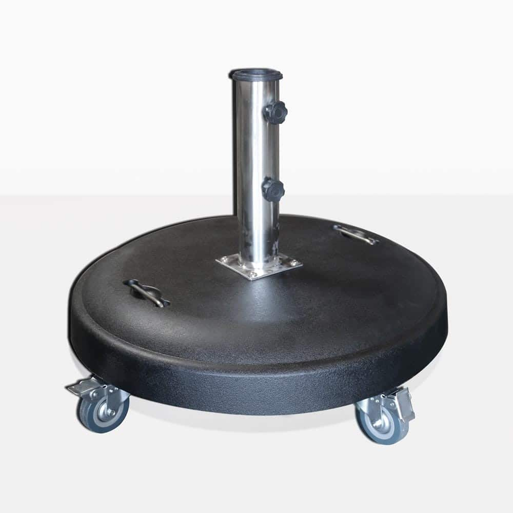 Mason Round Concrete Umbrella Stand with wheels