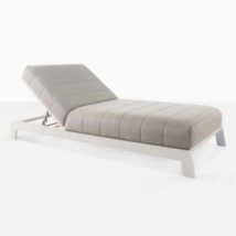 montgomery aluminum sun lounger in grey angle view