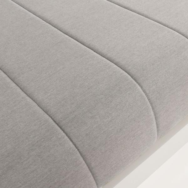 montgomery aluminium sun lounger in grey close up view cushion