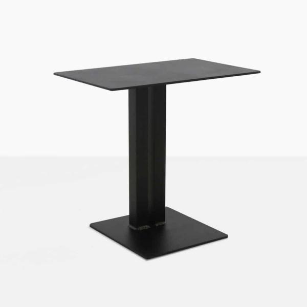 barrett square aluminium side table in black angle view