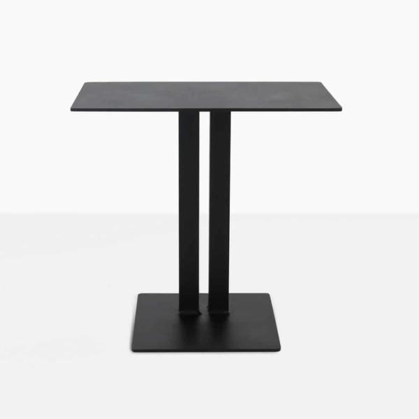 barrett square aluminium side table in black straight view