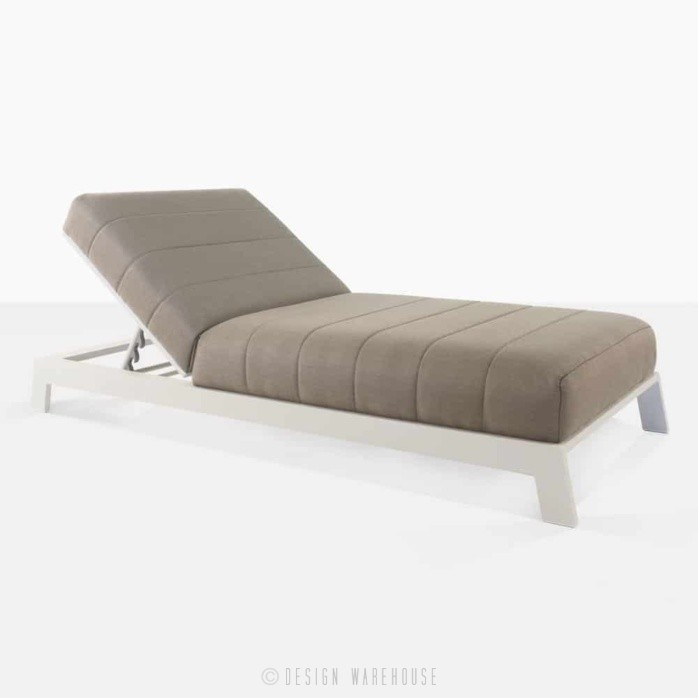 montgomery aluminum sun lounger in taupe angle view