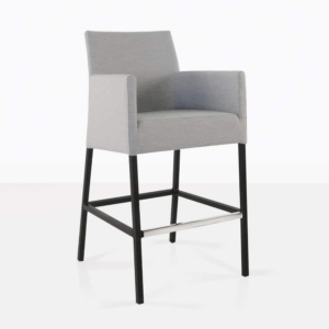 paddington aluminium bar chair in grey angle view