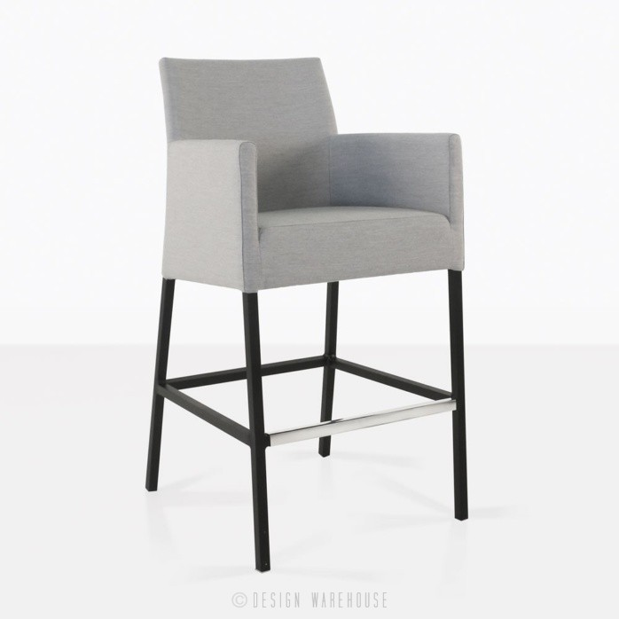 paddington aluminium bar chair in grey angle view