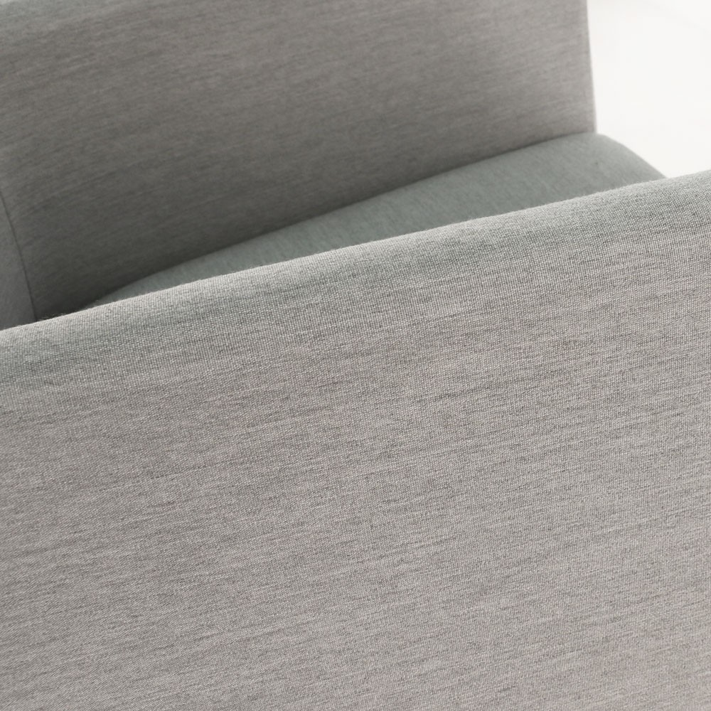 paddington aluminum bar chair in grey closeup view