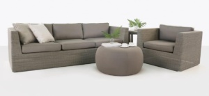 Antonio Wicker Sofa, Club Chair and Ottoman