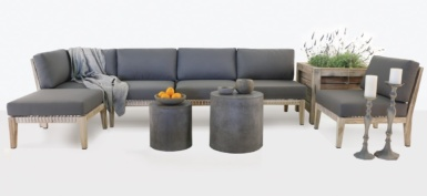 Bay Teak Outdoor Sectional Sofa