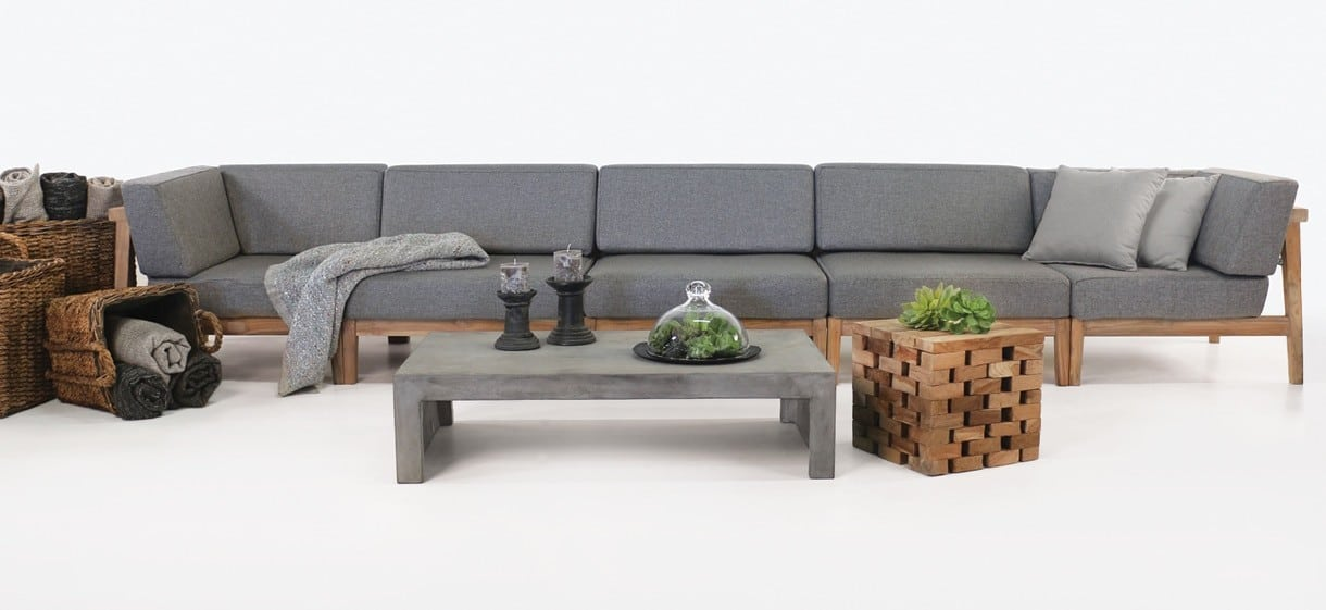 Copenhague Outdoor Sectional Sofa with Weather resistant fabric cushions