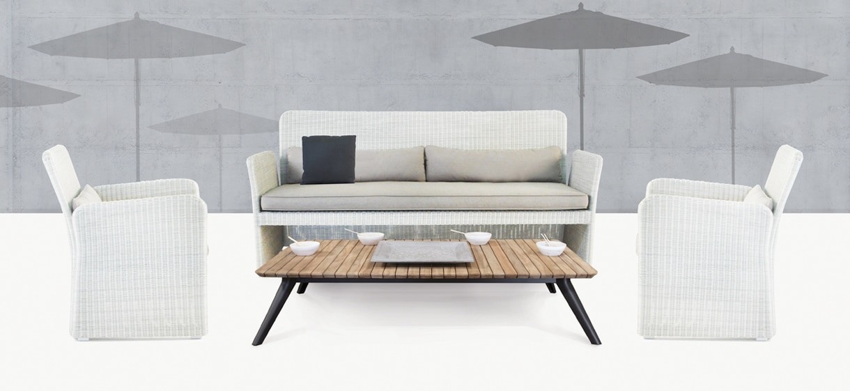 Cube Modern Outdoor Wicker Furniture Collection Design