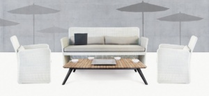 Cube Wicker Outdoor Seating Set