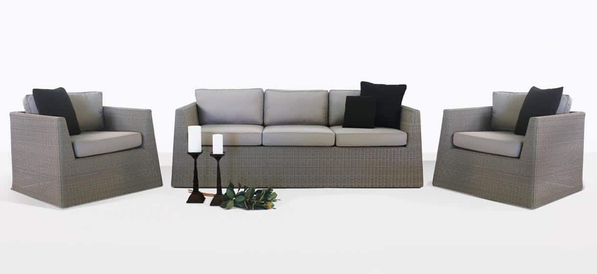 Giorgio Outdoor Wicker Sofa and Chair