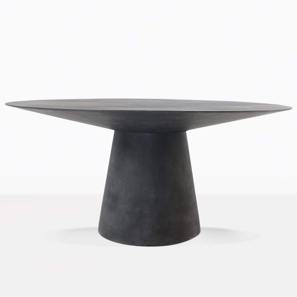 Holly Concrete Black Dining Table Outdoor Furniture Design Warehouse