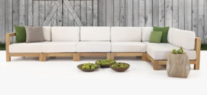 Ibiza Teak Outdoor Sectional Seating