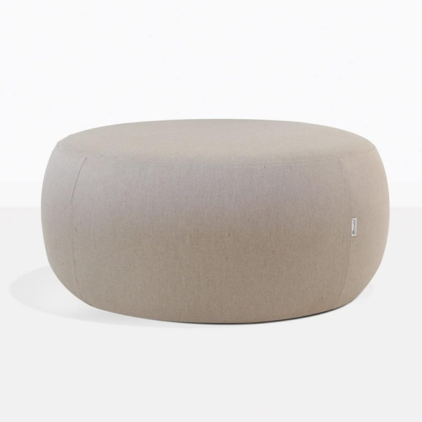Jelli Round Outdoor Fabric Covered Ottoman