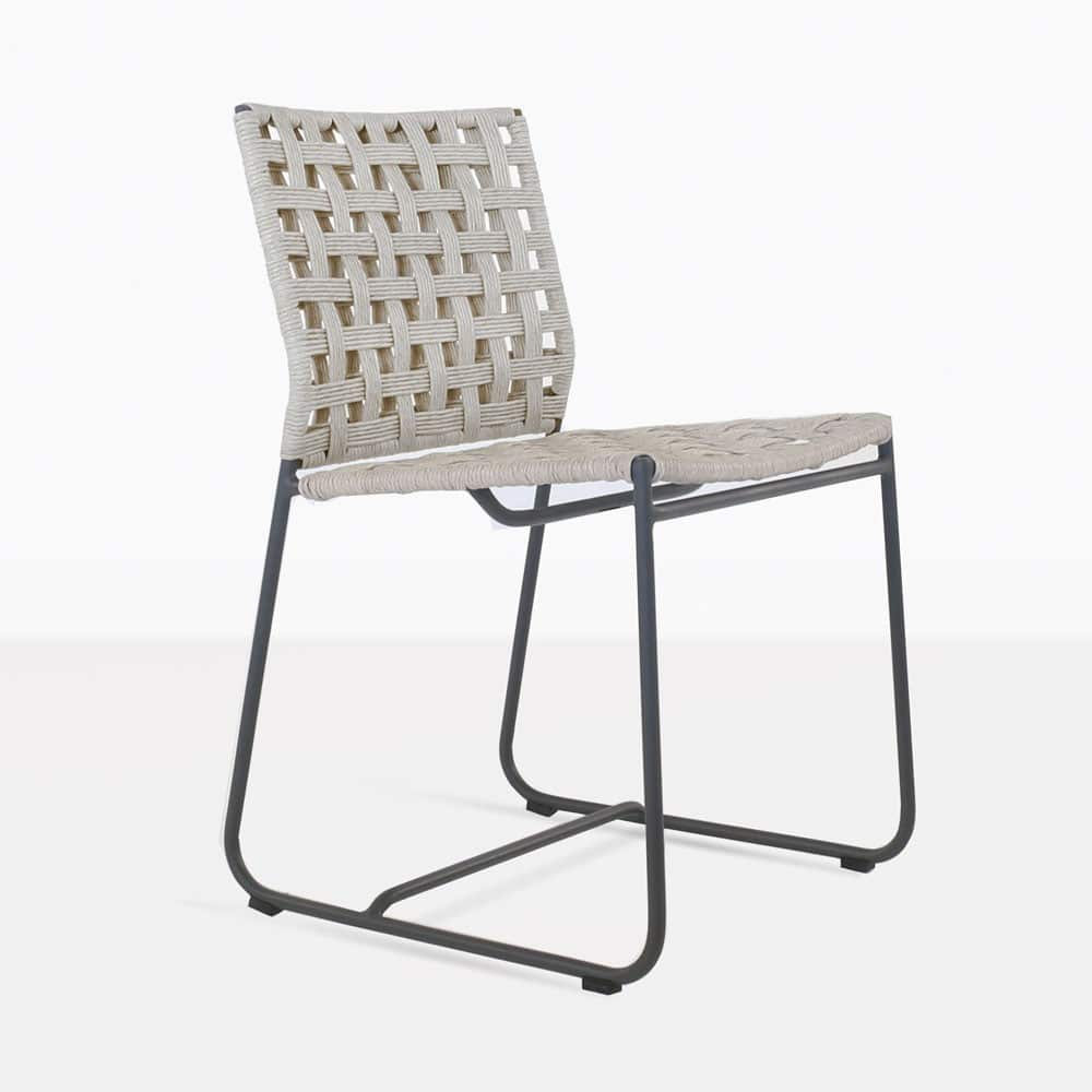 Mayo woven outdoor dining chair