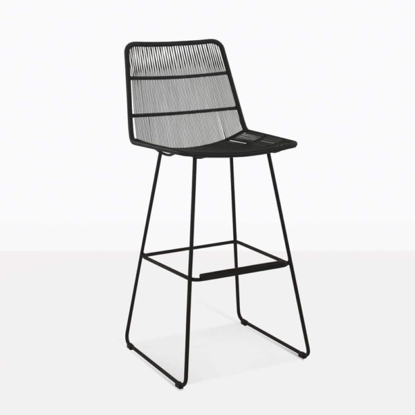 Nairobi Black Outdoor Bar Stool