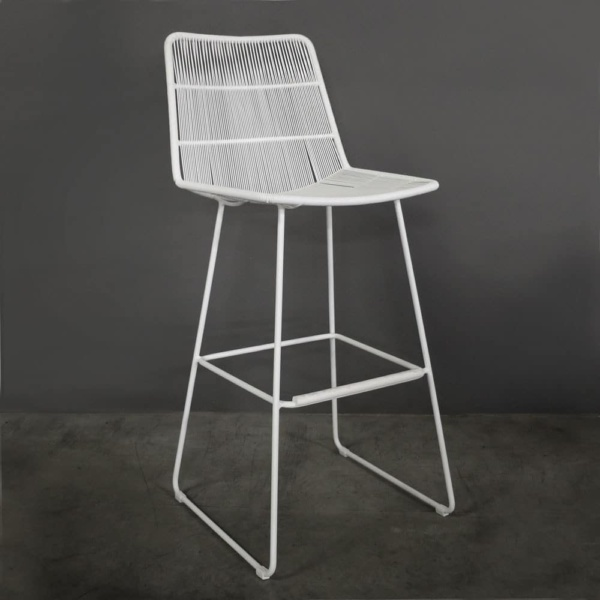 Nairobi Outdoor Bar Stool in White