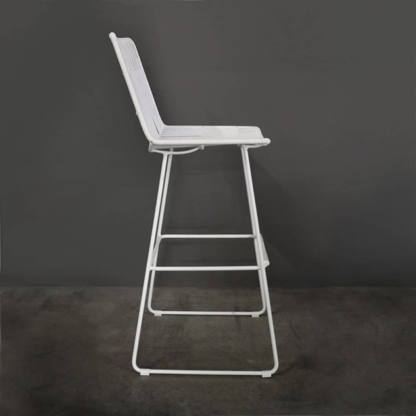 Nairobi Bar Stool In White Side