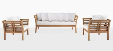 Plantation Teak Sofa and Chairs
