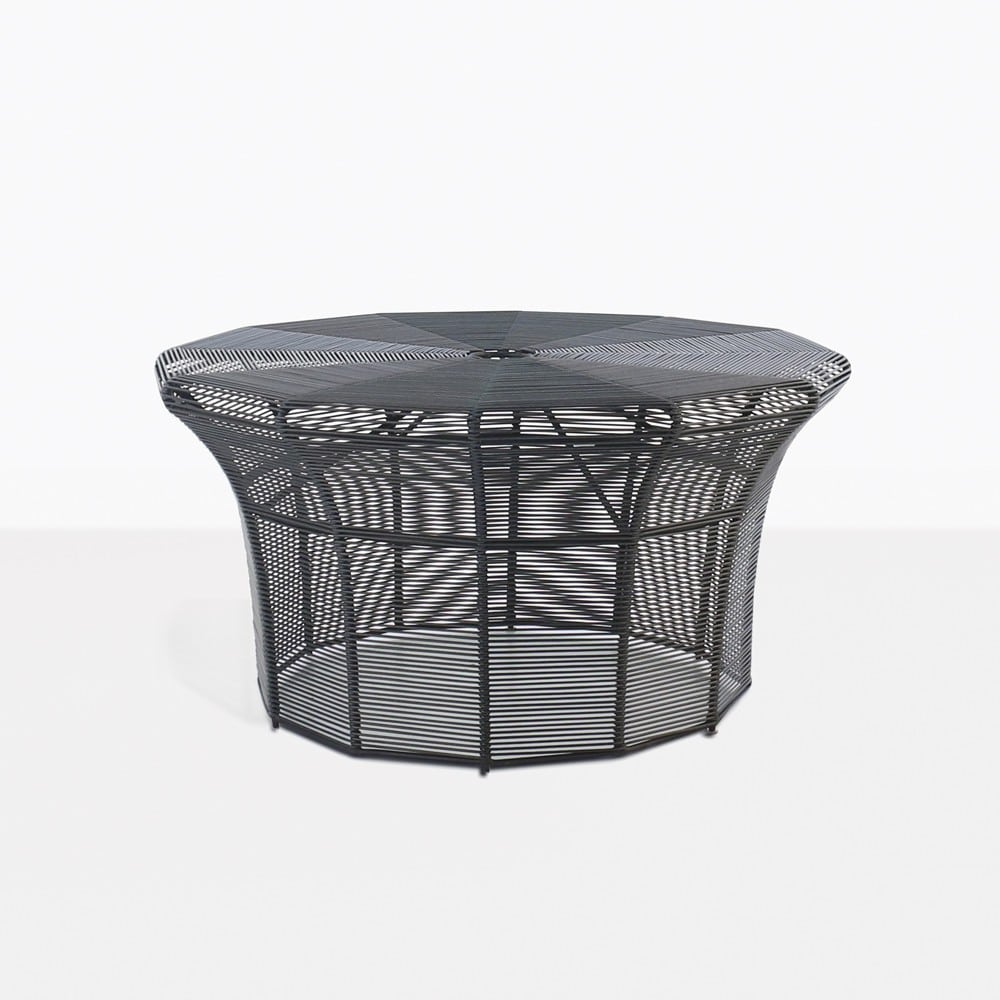 White Coffee Table Nz: Poppi Black Outdoor Coffee Table