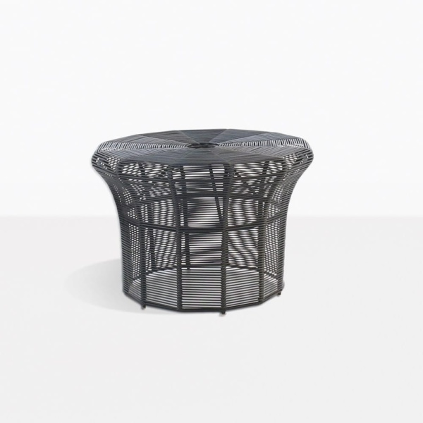 Poppi Black Wicker Side Table