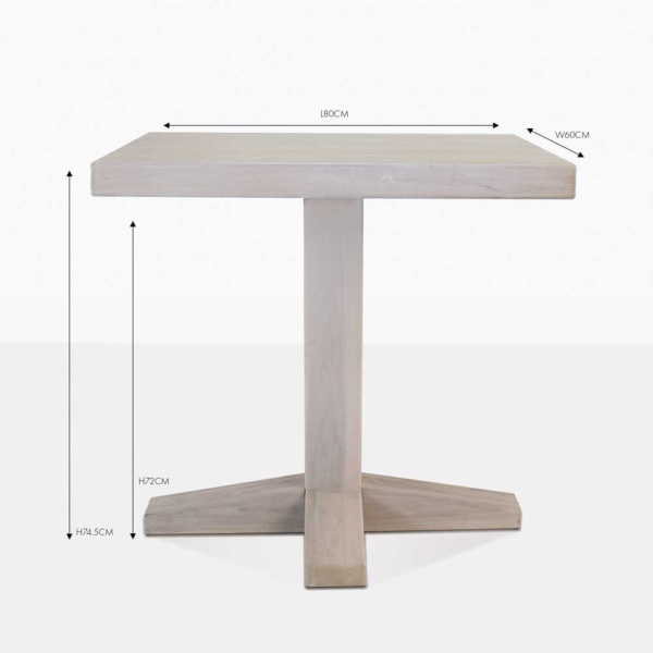 sherman teak square bistro table