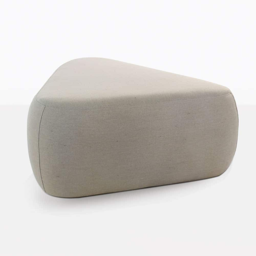 Tibbi Fabric Covered Ottoman in Taupe
