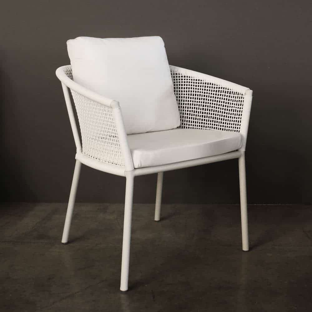 Washington Woven Outdoor Dining Chair White Design
