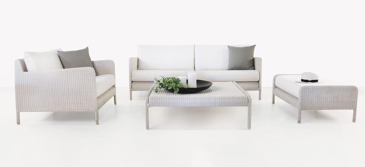 Zambezi Modern Wicker Sofa and Chair