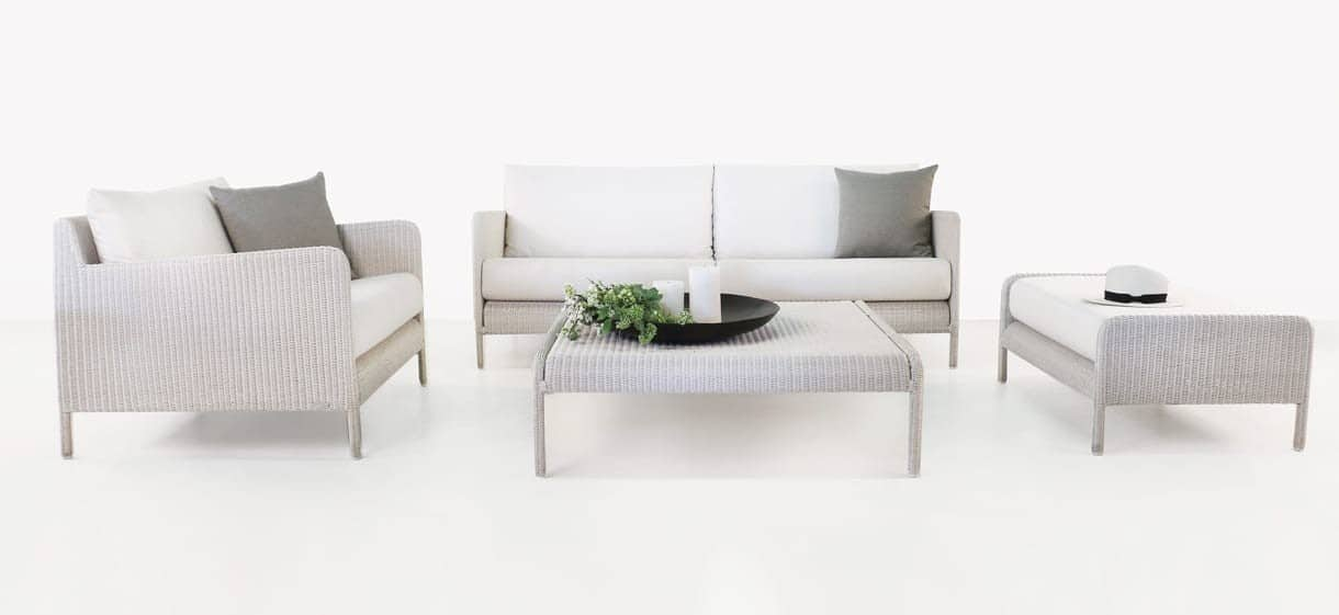 Zambezi Modern Wicker Sofa and Chair