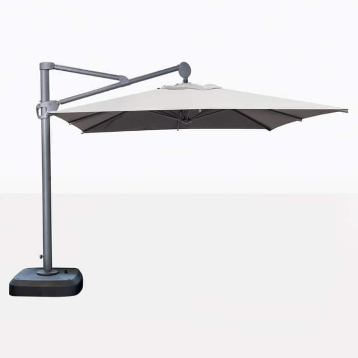 Bahama Square Cantilever Patio Umbrella In White