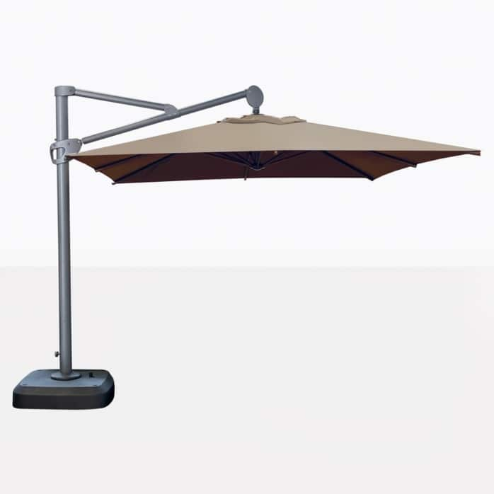 Bahama Square Cantilever Patio Umbrella In Taupe