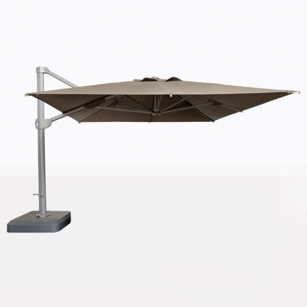 Bahama Square Cantilever Umbrella With Taupe Canopy