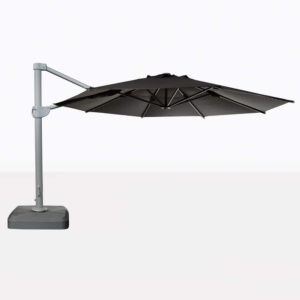 Bahama Round Cantilever Sunbrella Umbrella in Black