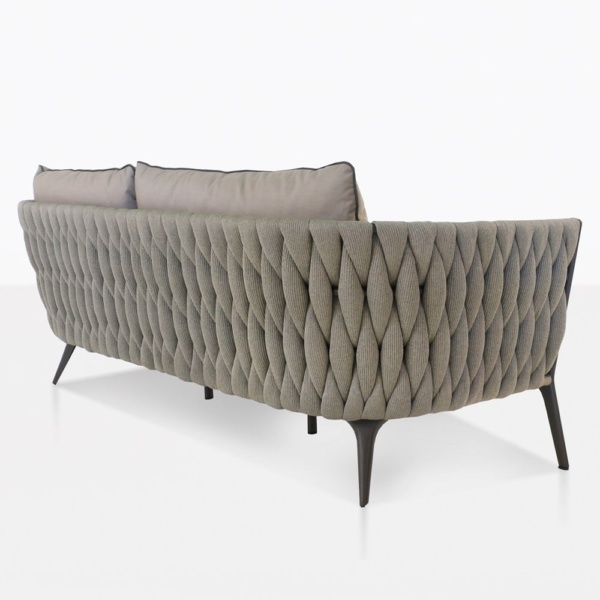 bianca woven rope loveseat outdoor back