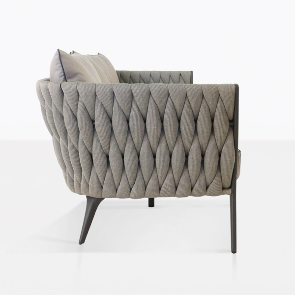 bianca woven rope loveseat outdoor side