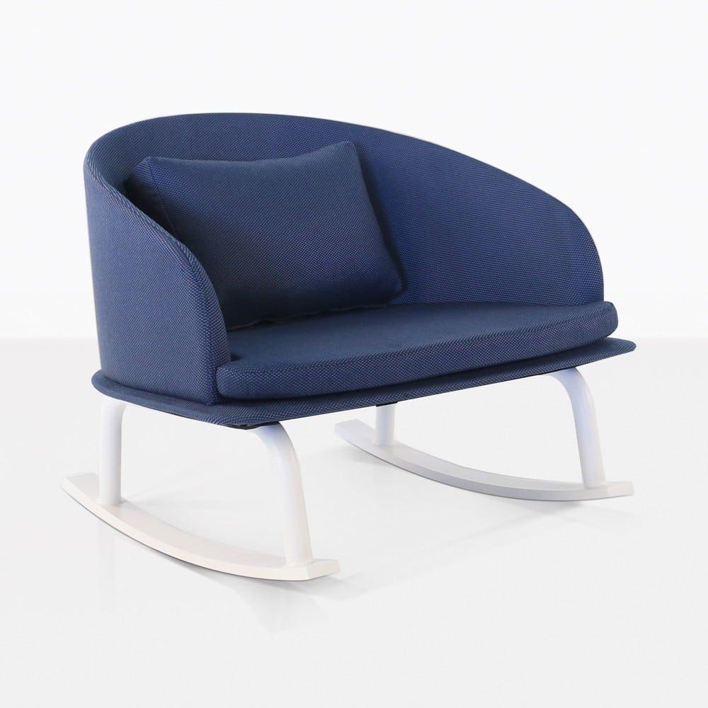 Kobii Outdoor Aluminium Rocking Chair Blue Design Warehouse Nz