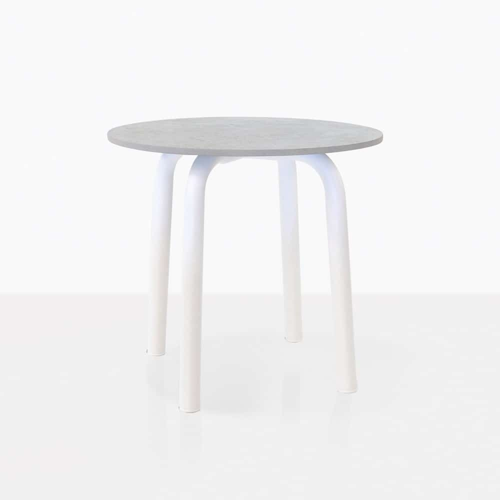 cdc2ccfd24c Kobii Outdoor Aluminum Side Table (White)